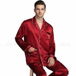 3b1514ebfb Mens Silk satin Pajamas Set Pajama Pyjamas Set PJS Sleepwear Loungewear  S