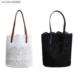 $enCountryForm.capitalKeyWord NZ - THINKTHENDO Fashion Women Lady 2 in 1 Floral Lace Handbag Beach Messenger Bag Tote Female Multifunction Boho Shoulder Bag New