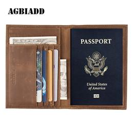 $enCountryForm.capitalKeyWord Australia - Vintage Crazy Horse Leather Passport Holders Genuine Leather Passport Covers RFID Travel Document Cover Holder 589