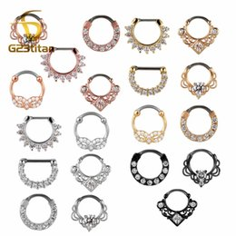 Indian Nose Piercing NZ - G23titan 16G Nose Piercing Ring Indian Septum Clicker Nose Rings Piercing Body Jewelry Hoops Helix Ear Cartilage Gifts