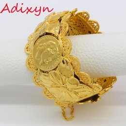 Adixyn Дубай Золотые Браслеты Ювелирные Изделия Для Женщин Мужчины Золотой Цвет Браслеты/Браслеты Африканские/Индия//Ближний Восток Товары Бесплатная Коробка