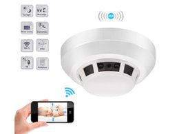Smoke Detector Alarm Camera UK - HD 1080P WIFI IP night vision camera F17 home Alarm mini smoke detector security DVR Motion Dectection