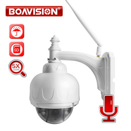 ptz ip camera sd card UK - BOAVISION Wireless IP Speed Dome Camera Wifi HD 1080P 960P PTZ Outdoor Security CCTV 2.7-13.5mm Auto Focus 5X Zoom SD Card ONVIF