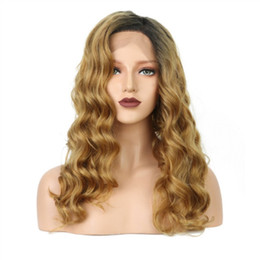 $enCountryForm.capitalKeyWord Australia - Hot Sale Ombre Golden Blonde Body Wave Lace Front Wigs For Women Heat Resistant Natural Fiber Hair Cosplay Wigs for Women Free Shipping