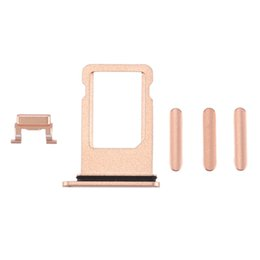 Iphone 5s Complete UK - For iPhone 5 5S 5C 6 6plus 6S PLUS 7 8 Plus 3 in 1 Side Buttons With SIM Card Tray Holder Complete Sets Repair Parts With Free DHL Shipping