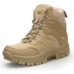 army combat boots men 2019 - Men Desert Tactical Military Boots Mens Work Safty Shoes SWAT Army Boot Zapatos Ankle Lace-up Combat Boots cheap army co