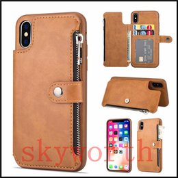 SamSung galaxy note magnetic wallet online shopping - Retro Card Slots Wallet Flip Leather Cases For iphone X XS XR Max Plus Samsung Galaxy S8 S9 Plus Note9 Magnetic Detachable
