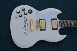 Discount aged custom guitars - High quality angus young sg guitars in aged cherry china oem golden hardware custom white body electric guitar available