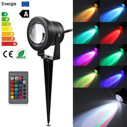 Landscape buLbs online shopping - 220V V Outdoor Lighting LED Garden Light W W Lawn Lamp Waterproof V Landscape RGB Bulb Warm White Green Spike Spot Lights