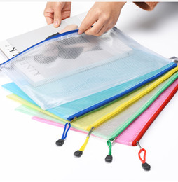 $enCountryForm.capitalKeyWord NZ - 2018 New 5 Colors A4 A5 PVC Storage Bag School Office Supply Transparent Loose sheet Notebook zipper Self-sealing File Holder Creative Gifts