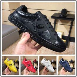 89b6afd402b Luxury Brand skull Men loafers Black Diamond Rhinestones Spikes men shoes  Rivets Casual Flats sneakers wholesale 38-45