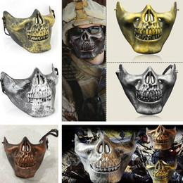 Protective face mask skull online shopping - Retro CS D Skull Skeleton Lower Half Face Protective Horror Skull Mask For Halloween Carnival Party Gift Party Masks I303