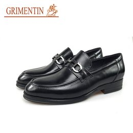 Comfortable heels for wedding online shopping - GRIMENTIN Newest brand luxury mens party shoes genuine leather black comfortable fashion men dress shoes for office size CGNH6
