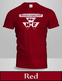 Massey Ferguson Носить Логотип Футболка Мужская Топ Красный Цвет Тройник Новый 2 на Распродаже