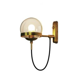 Clear Balls Australia - Postmodern Vintage Wall Light Nordic Wall Lamps Creativity Glass Ball Wall Sconces Indoor Art Deco Lighting