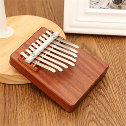 Unique 8 Key Finger Piano Mbira Kalimba Thumb Piano Rosewood Idea Fun Gift Traditional African Music Instrucments on Sale