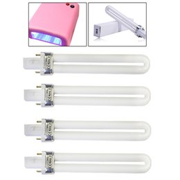 Discount u tube light bulbs - 4PCS UV Lamp Bulb Tube for Gel Varnish U shape Nail Polishing Dryer Lamp Light Replacement 2Pin Bulb Tube for 9W 36W Nai