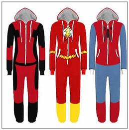 Men s juMpsuits online shopping - Superhero Cosplay Costume Spiderman Homecoming Pajamas Flash Man Jumpsuit Pyjamas Sleepwear Halloween Party Outfit Rompers CCA10302
