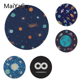 laptop sizes 2019 - MaiYaCa Space Infinite Spacecraft Laptop Computer Mousepad Size for 22X22cm Round Gaming Mousepads cheap laptop sizes