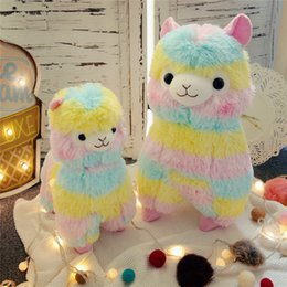 kawaii alpaca toy UK - Llama Arpakasso Stuffed Animal 50cm 20 inches Rainbow Alpaca Soft Plush Toys Kawaii Cute for Kids Christmas present C5128