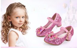 $enCountryForm.capitalKeyWord Canada - NEW Butterfly Children Princess Shoes Girls Bowtie Candy Color Hight Heels Slip on Party Dance Sandals For Baby Girls Kids