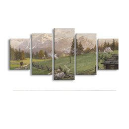 $enCountryForm.capitalKeyWord Australia - 5 pieces high-definition print Landscape canvas oil painting poster and wall art living room picture PL5-229