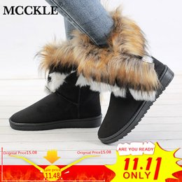 $enCountryForm.capitalKeyWord NZ - MCCKLE Women Snow Boots Plus Size Faux Fur Winter Woman's Ankle Booties Female Casual Footwear Platform Shoes Drop Shipping
