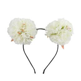 Flower Girl Hoop Hair Bands UK - Cute Girl Flower Christmas Headband Hair Band Fluffy Hair Hoop for Party Wedding Daily Decor