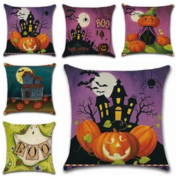 Wholesale New Halloween Styles Pumpkin Castle Theme Pillow Case Cushion Cover Car Home Supplies pillows printed high quality pillowcase