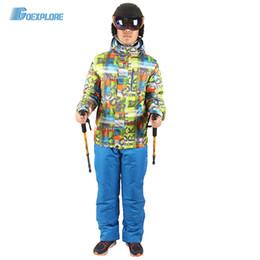 Warm Waterproof Pants Men Australia - Goexplore Snowboard jacket and straps pants male Thicken Warm Waterproof Clothing Sets Sportswear Warm Sport Winter Suit Men