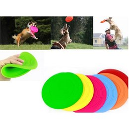 Silicone Toys Australia - Soft Flying Flexible Disc Tooth Resistant Outdoor Large Dog Puppy Pets Training Fetch Toy Silicone Dog Frisbee 1 Pc Wholesale