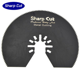Steel Cutting Blades Wholesale Canada - 10pcs 80mm Segment saw blades, 20TPI half around multimaster power tools saw blades oscillaitng plunge saw blades for wood and plastic cut