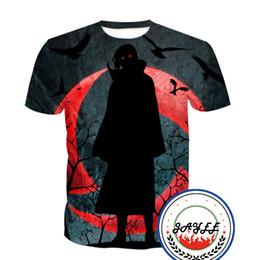 3D T Shirt Tees Short Sleeve Super Cool NARUTO Printed Tee T-shirt Men Women T-shirts 20 styles Top