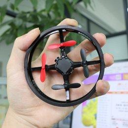 Resistencia a la caída Mini avión a control remoto Fotografía aérea Cuatro ejes UAV Aerocraft Eliminación de colisión Abejones RC 53xg W