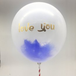 Birthday Decoration Sets NZ - 12inch English Alphabet Balloon with feather Birthday Party Wedding Decorations Transparent Helium Aluminum Balloons set with Sticker 2018