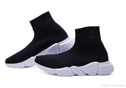 White speed online shopping - 2018 Designer Shoes Speed Runner Trainer Black Red Oreo Triple Black Flat Fashion Sock Boots Casual Sneaker With Box Dust Bag