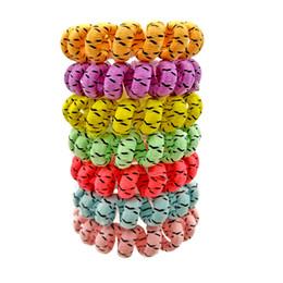 $enCountryForm.capitalKeyWord UK - 100Pcs Lot Elastic Hair Bands Girl Accessories Rubber Headwear Rope Spiral Shape Hair Ties Gum Telephone Wire Size 4CM