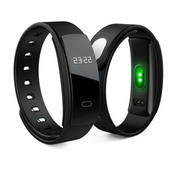 China 2018 Brand new QS80 smart wristband 0.42inch OLED bracelet Heart rate oximeter pedometer IP67 waterproof bluetooth bracelet for Android iOS cheap wearable pulse oximeter suppliers
