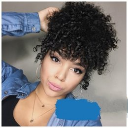 $enCountryForm.capitalKeyWord NZ - Fashion Short Hair Accessories Claw Ponytails Brown Afro Kinky Curly Celebrity Afro Kinky Curly Drawstring Ponytail Hair Extensions