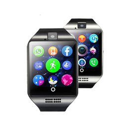 smart watches phones apple 2019 - Q18 smart watches for android phones Bluetooth Smartwatch with Camera Support Health Smart watches Tf sim Card Slot Blue