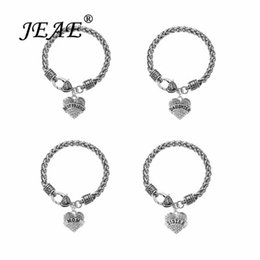 Wholesale Best Friend Crystal Heart Silver Color Chain Bracelets For Women Family Mom Sister Daughter Charm Bracelet Christmas Jewelry