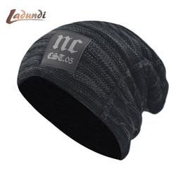 $enCountryForm.capitalKeyWord Australia - Skullies Beanies Knitted Hat Winter Hats For Men Women Mask Beanie Warm Baggy Soft Thick Gorros Bonnet Letter NC Hat Cap