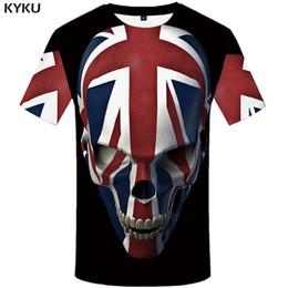 3f0be8c9e KYKU Skull T Shirt Men Black Anime Tshirt United Kingdom Gothic 3d Print T-shirt  Punk Rock Clothes Casual Hip Hop Mens Clothing