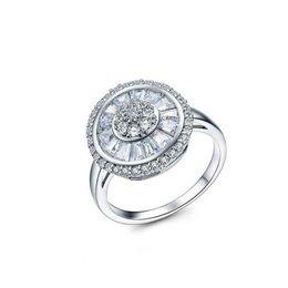 b83b63f48 925 ring swarovski online shopping - European Sterling silver Female Crystal  from Swarovski Simple Luxury sapphire