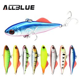isca lure Canada - ALLBLUE BETA VIB 60S Sinking Vibration Fishing Lure Hard Plastic Artificial VIB Winter Ice Jigging Pike Bait Tackle Isca Peche Y18100806