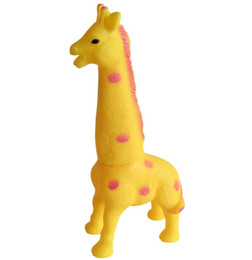 giraffe toys Canada - 32*15*8cm Large scream giraffe fun toy for dog cat pet dog training toy Screaming Annoying toy squeaker squeezed pet toys