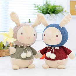 White Rabbit Stuffed Animal Canada - 7.9 inch Plush Cute Stuffed animals Baby Kids Plush Toys for Girls Birthday Christmas Gift Dolls knitting Wool Rabbit dog