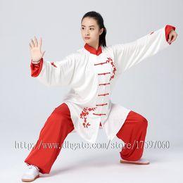 Chinese Suits For Girls Canada - Chinese Tai chi clothing taiji sword suit kungfu uniform performance garment wushu outfit for men women children boy girl kids adults