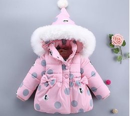 jackets tracksuits Australia - Winter Baby Hooded Jackets Warm Toddler Baby Tracksuit Girls Faux Fur Girls Clothes Infant Clothes Outfits