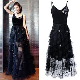 5352c442dc Black velvet homecoming dresses online shopping - Layers Ruffles Mesh Five  Star Sequin Tulle Dress Flared